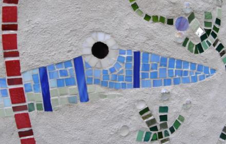 """Our Ocean"". Planter. Detail 1."